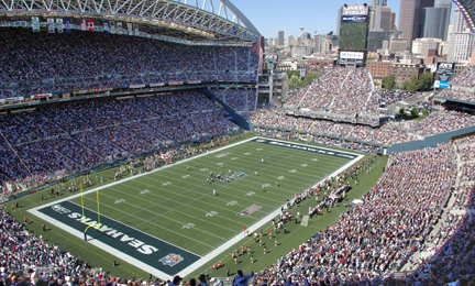 CenturyLink Field, Seattle Seahawks Football Stadium and Seattle Sounders Soccer Stadium